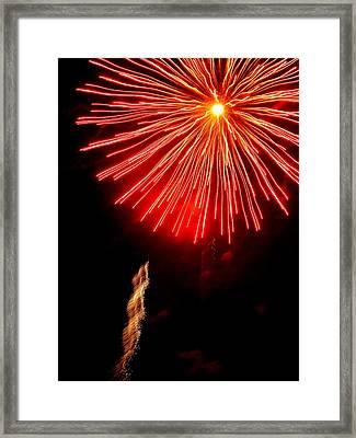 Hilliard Ohio Firework 2  Framed Print by Beth Akerman