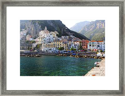 Hills Of Amalfi Framed Print by George Oze