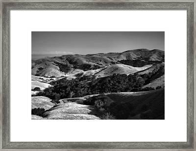 Hills Of San Luis Obispo Framed Print by Steven Ainsworth