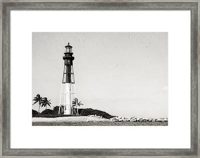 Hillsboro Inlet Lighthouse - 6 Framed Print by Frank J Benz
