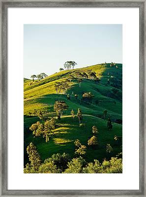 Hilltop Shadows Framed Print by Az Jackson