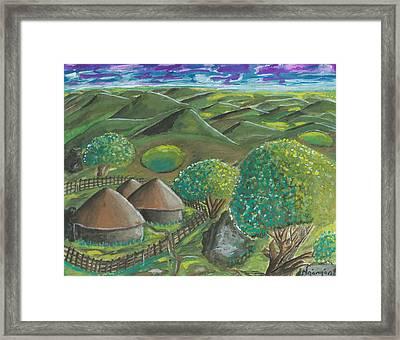 Hilltop View Framed Print by Ken Nganga