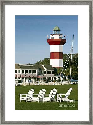 Hilton Head Island Lighthouse Framed Print by Dustin K Ryan