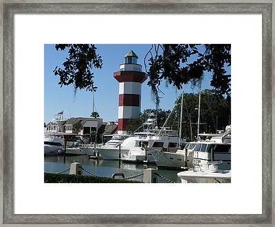 Hilton Head South Carolina Light House Framed Print by Richard Singleton