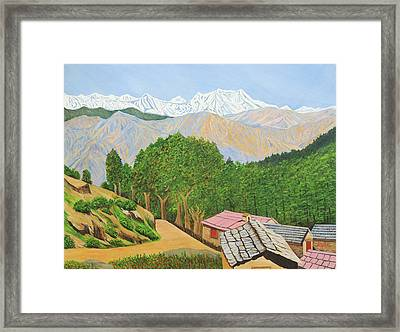 Himalayan Trails Framed Print by Ajay Harit