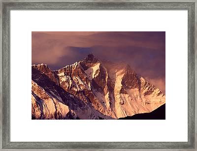 Himalayas At Sunset Framed Print by Pal Teravagimov Photography