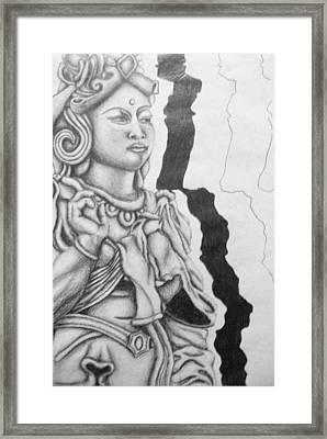 Hindu Goddess Framed Print by Ashley Warbritton