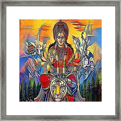 Hindu Godess Kali - My Www Vikinek-art.com Framed Print by Viktor Lebeda