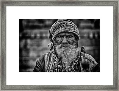 Hindu Holy Man 1 Framed Print by David Longstreath