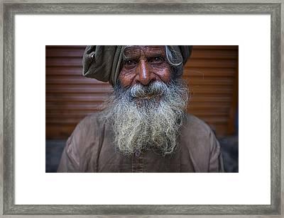Hindu Man Framed Print by David Longstreath
