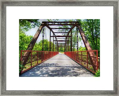 Hinkson Creek Bridge Framed Print by Cricket Hackmann