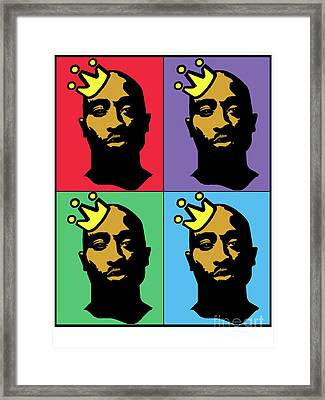 Hip Hop Icons Tupac Shakur Framed Print by Stanley Slaughter Jr
