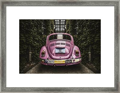 Hippie Chick Love Bug Framed Print by Scott Norris