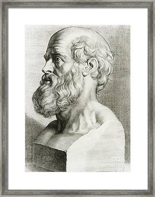 Hippocrates, Greek Physician Framed Print by Science Source