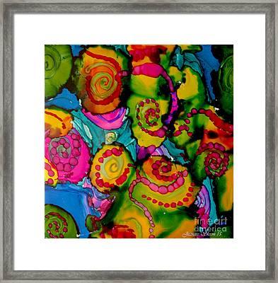 Hippy Style Patterns  Framed Print by Jeanette Skeem