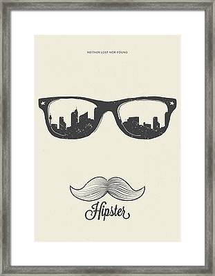 Hipster Neither Lost Nor Found Framed Print by Bekare Creative
