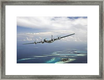 Hiroshima Mission Framed Print by Peter Chilelli