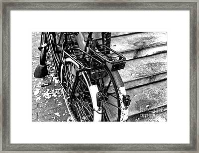 His And Hers In Amsterdam Mono Framed Print by John Rizzuto