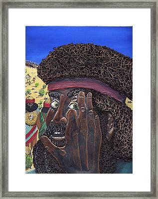 His Brother Eliab Framed Print by Dan RiiS Grife