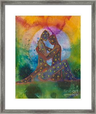 His Loves Embrace Divine Love Series No. 1007 Framed Print by Ilisa  Millermoon