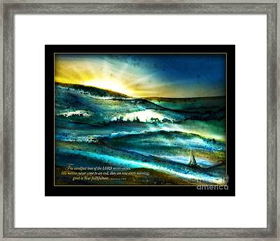 His Mercies Are New Every Morning -verse Framed Print by Shevon Johnson