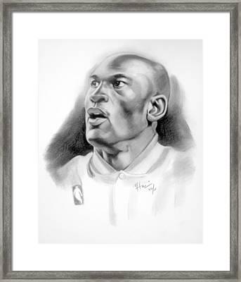 Michael Jordan Framed Print by Michael Harris