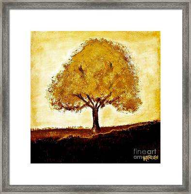 His Tree Framed Print by Marsha Heiken
