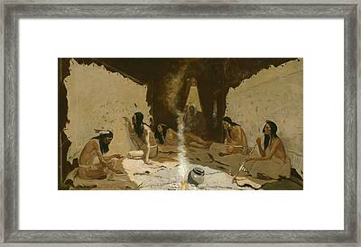 Historians Of The Tribe Framed Print by Frederic Remington