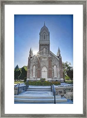Historic Box Elder Tabernacle Framed Print by Donna Kennedy
