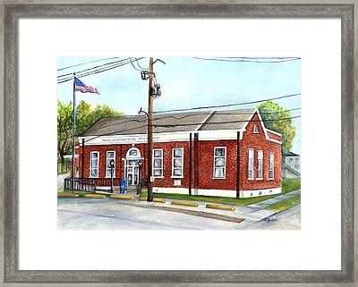 Historic District Post Office Framed Print by Elaine Hodges