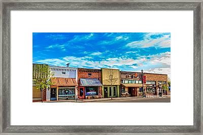 Historic Downtown Emmett 01 Framed Print by Robert Bales