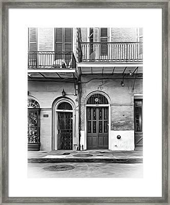 Historic Entrances - Paint Bw Framed Print by Steve Harrington