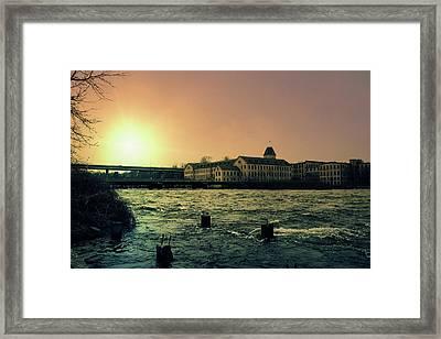 Historic Fox River Mills Framed Print by Joel Witmeyer