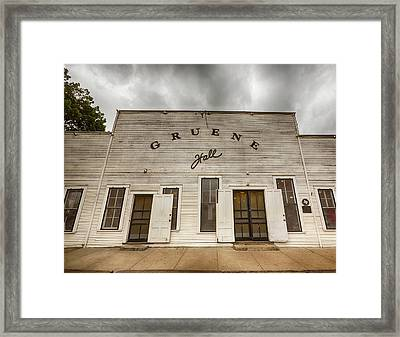 Historic Gruene Hall Framed Print by Stephen Stookey