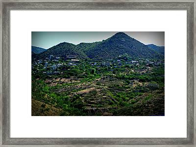 Historic Jerome Arizona Framed Print by Aaron Burrows