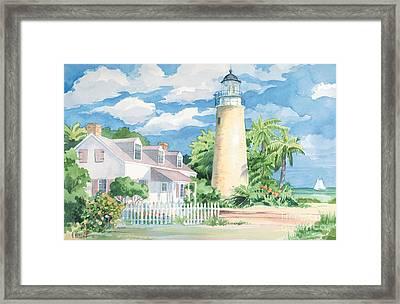 Historic Key West Lighthouse Framed Print by Paul Brent