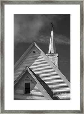 Historic Long River Church Avonlea Village Pei Framed Print by Edward Fielding
