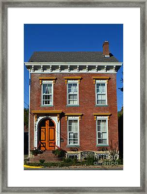 Historic Madison Row House Framed Print by Amy Lucid