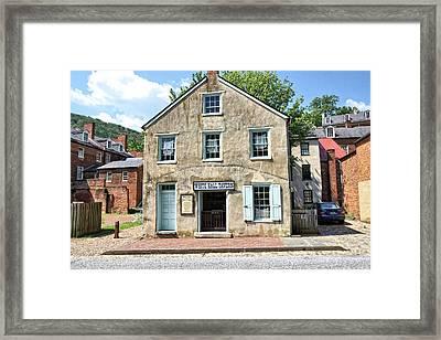 Historic Old Tavern In Harpers Ferry Framed Print by John Trommer