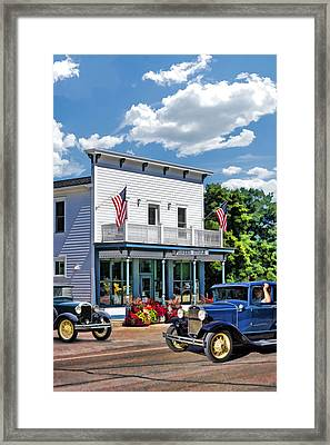 Historic Pioneer Store In Ellison Bay Door County Framed Print by Christopher Arndt