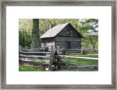Historic Puckett's Cabin Framed Print by Bill Spittle