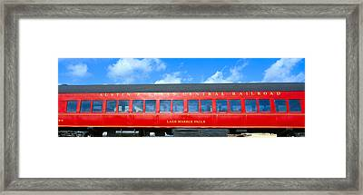 Historic Red Passenger Car, Austin & Framed Print by Panoramic Images