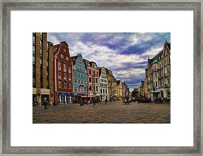 Historic Rostock Germany Framed Print by David Smith
