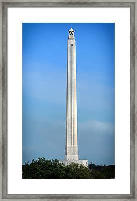 Historic San Jacinto Monument Framed Print by Mountain Dreams