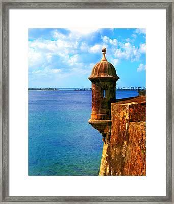 Historic San Juan Fort Framed Print by Perry Webster