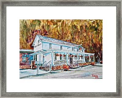Historic Valley Green Inn Framed Print by Joyce A Guariglia