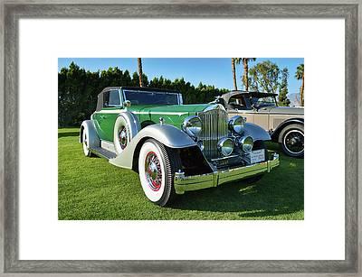 Historical Packard Roadster Framed Print by Bill Dutting