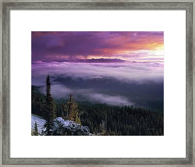 Historical Wilderness View Framed Print by Leland D Howard