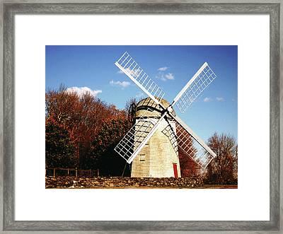 Historical Windmill Framed Print by Lourry Legarde
