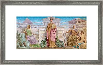 History Mosaic Framed Print by Frederick Dielman